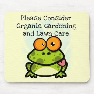 Frog Organic Gardening T-shirts and Gifts Mouse Pad