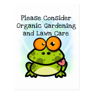 Frog Organic Gardening T-shirts and Gifts Postcard