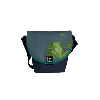 Frog Painting Courier Bags