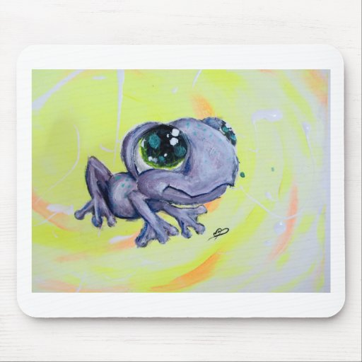 Frog Painting on Canvas Froggy Frogger Animal Kids Mousepads