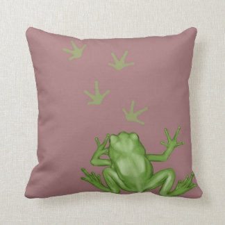 Frog Painting Throw Pillow
