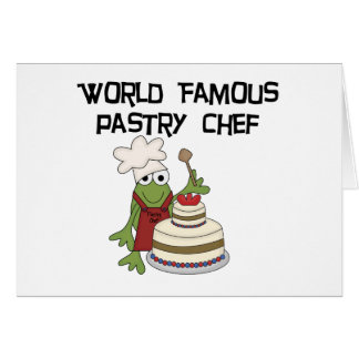 Frog Pastry Chef Tshirts and Gifts Greeting Card