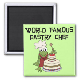 Frog Pastry Chef Tshirts and Gifts Square Magnet