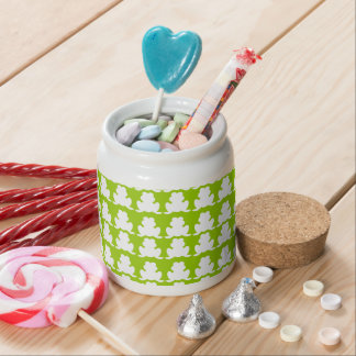 Frog Pattern Candy Jars