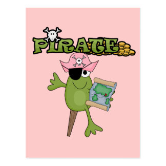 Frog Pirate Girl tshirts and Gifts Post Cards