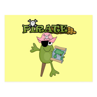 Frog Pirate Girl tshirts and Gifts Post Card