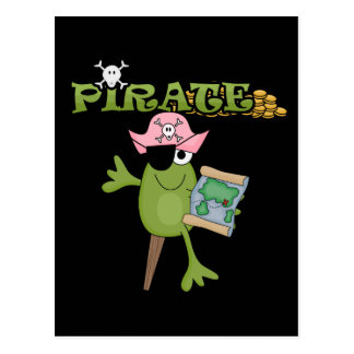 Frog Pirate Girl Tshirts and Gifts Postcards