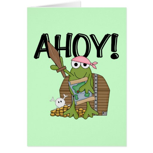 Frog Pirate With Gold - Girl T-shirts and Gifts Card