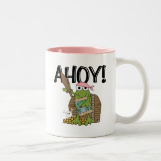 Frog Pirate With Gold - Girl T-shirts and Gifts Mugs