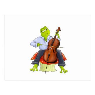 Frog Plays Cello Postcard