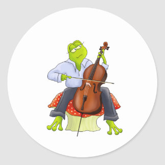 Frog Plays Cello Stickers