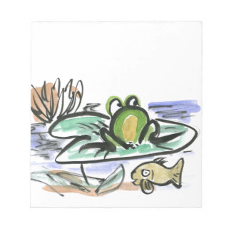 Frog Pond - Above and Below Notepad