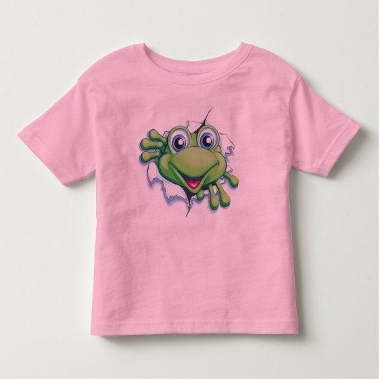 frog_popping_big toddler T-Shirt