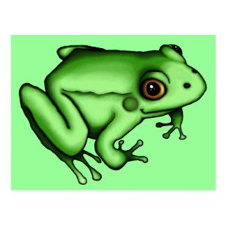 Frog, postcard