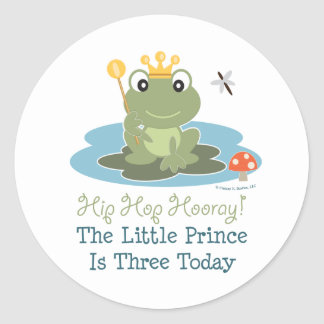 Frog Prince 3rd Birthday Stickers