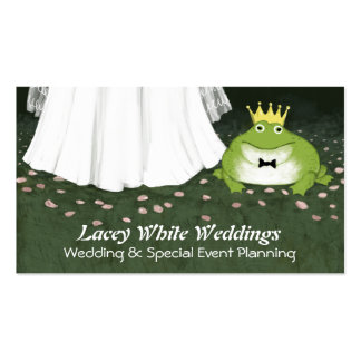 Frog Prince and Bride - Fairy Tale Wedding Pack Of Standard Business Cards