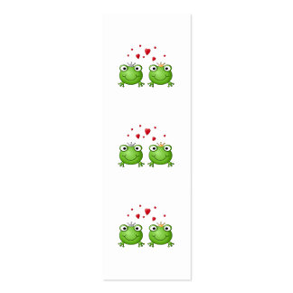 Frog Prince and Frog Princess, with hearts. Pack Of Skinny Business Cards