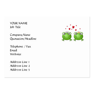 Frog Prince and Frog Princess with hearts Business Card