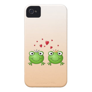 Frog Prince and Frog Princess, with hearts. iPhone 4 Case