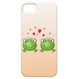 Frog Prince and Frog Princess, with hearts. iPhone 5 Cases