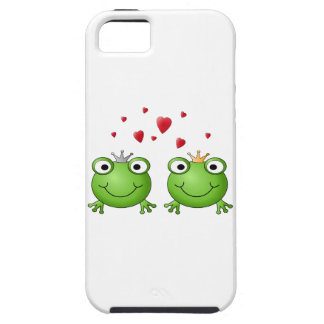 Frog Prince and Frog Princess, with hearts. iPhone 5 Cover