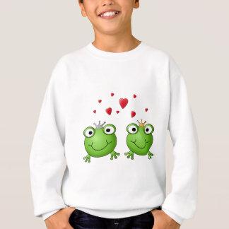 Frog Prince and Frog Princess, with hearts. Sweatshirt