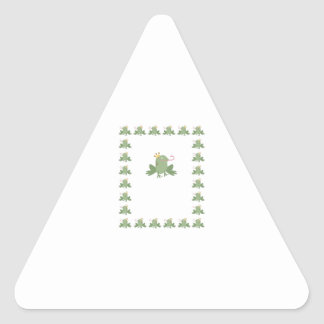Frog Prince Baby Announcement Triangle Sticker