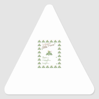 Frog Prince Birth Announcement Triangle Sticker