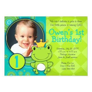 Frog Prince Birthday 13 Cm X 18 Cm Invitation Card
