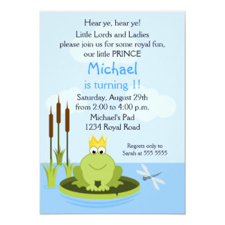 Frog Prince Birthday Party Invitation