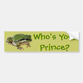 Frog Prince Bumper Stickers