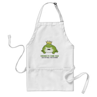 Frog Prince - Cute Toad with Customizable Text Standard Apron