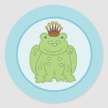 Frog Prince Envelope Seals / Toppers 20 Round Sticker