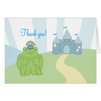 Frog Prince Folded Thank you notes