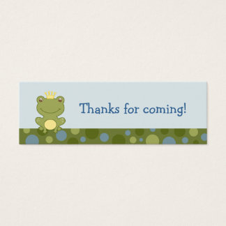 Frog Prince Froggy Birthday Favor Gift Tags Mini Business Card