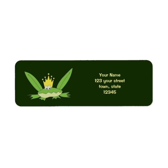 Frog Prince Funny Green Cartoon Cute Return Address