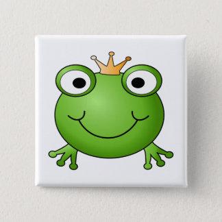 Frog Prince. Happy Frog. 15 Cm Square Badge