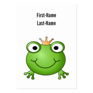 Frog Prince Happy Frog Business Card Template