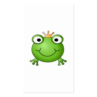 Frog Prince. Happy Frog. Business Card