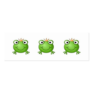 Frog Prince. Happy Frog. Pack Of Skinny Business Cards