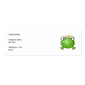 Frog Prince. Happy Frog. Business Card Templates