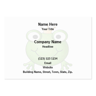 Frog Prince. Happy Frog. Pack Of Chubby Business Cards