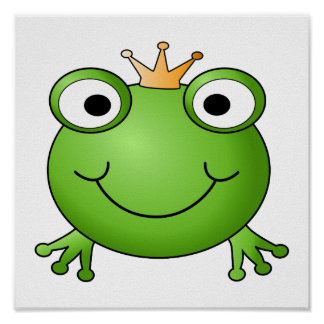 Frog Prince. Happy Frog. Poster