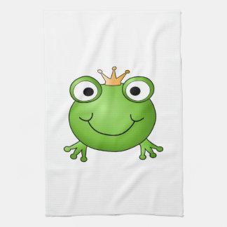 Frog Prince. Happy Frog. Tea Towel