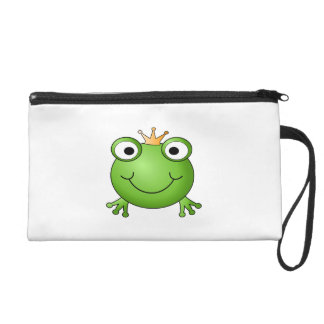 Frog Prince. Happy Frog. Wristlet Clutches