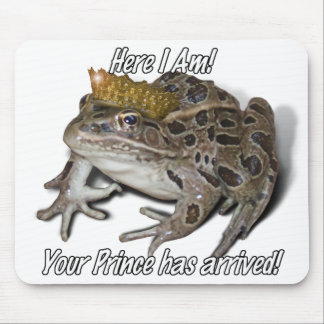 """Frog Prince - """"Here I Am"""" Mouse Pad"""