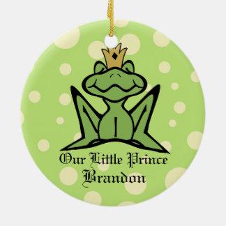 Frog Prince Keepsake Photo Christmas Ornament