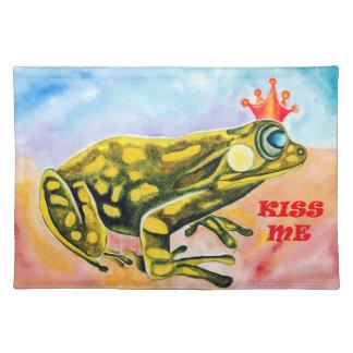 Frog Prince Kiss Me place mat
