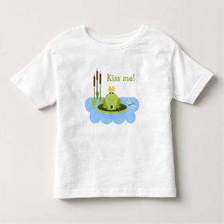 Frog Prince Kiss Me Toddler T-Shirt