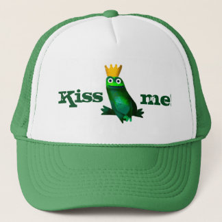 "Frog Prince ""Kiss me!"" Trucker Hat"